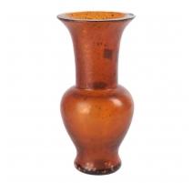 Vase en verre ambre avec incrustations d'or