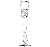 Lot de 4 coupes à champagne criss cross en verre
