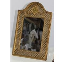 Miroir en bronze signé JP LEGASTELOIS