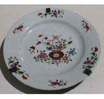 Assiette chinoise décor de fleurs