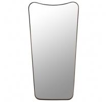 Miroir retro bordure en métal noir