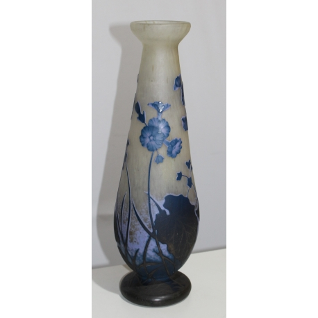 grand vase balustre d cor fleurs sign daum moinat sa antiquit s d coration. Black Bedroom Furniture Sets. Home Design Ideas