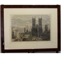 """Gravure """"Westminster Abbey"""" par MACQUARD"""