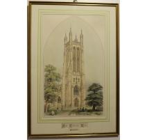 "Gravure ""Saint Cuthber's Wells"" par C. WICKES"