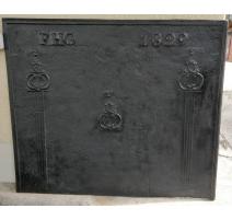 Plaque de cheminée marquée FHG 1829