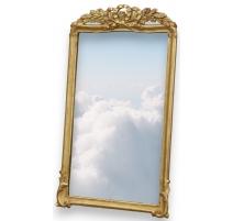 Miroir Louis XVI fronton triple boucle