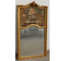 Trumeau style Louis XV décor de fleurs