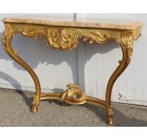 Console style Régence en bois doré