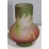 Vase bulbe décor frène signé GALLÉ