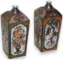 Paire de vases japonais Irami carrés