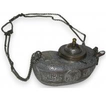 Lampe à huile Medo Perse decor damsquinée