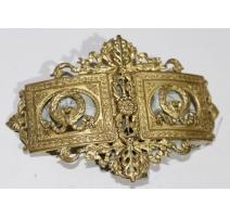Boucle de ceinture en bronze doré