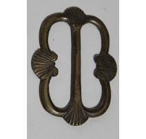 Boucle de ceinture en bronze décor coquillage