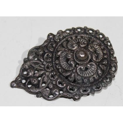 Boucle de ceinture ronde en métal