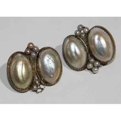 Paire de boucles d'oreilles en perles