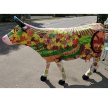 Vache taille nature décor vendanges