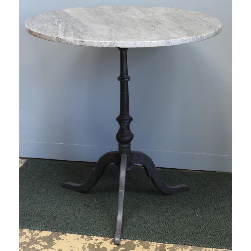 Table de bistro ronde plateau en marbre