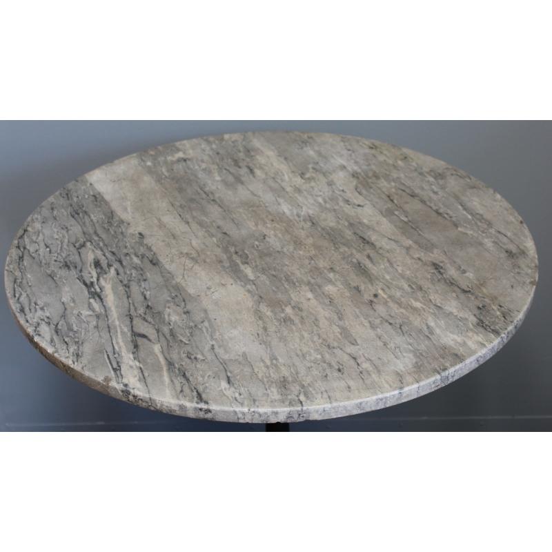 table de bistro ronde plateau en marbre moinat sa antiquit s d coration. Black Bedroom Furniture Sets. Home Design Ideas