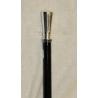 Canne-épée avec pommeau rond lisse argenté
