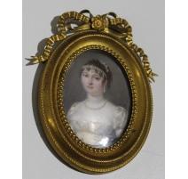 """Miniature ovale """"Reine de Wesphalie"""""""