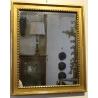 Miroir cadre en bois doré
