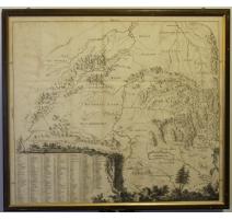 Carte de Suisse centrale encadrée