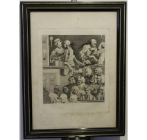 "Gravure ""Laughing audience, Plate 4"" par HOGARTH"