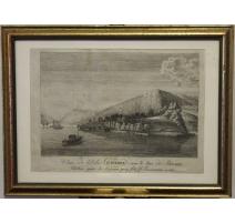 Gravure Vue de l'Isle St-Pierre