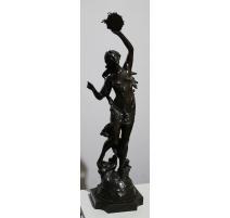 Bronze Femme au tambourin signé DROUOT