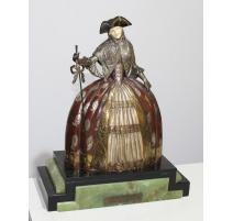 Bronze La belle vénitienne signé J. LORMIER