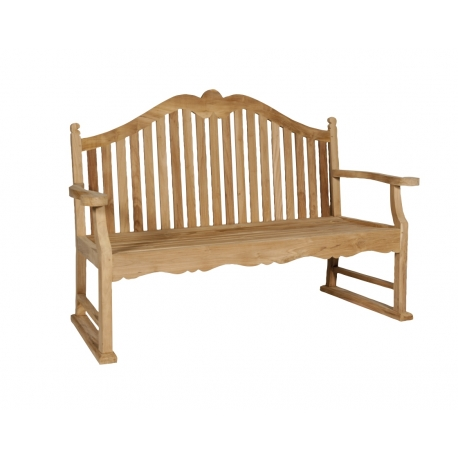 banc de jardin bedford en ch ne petit moinat sa antiquit s d coration. Black Bedroom Furniture Sets. Home Design Ideas