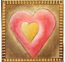 Paire de tableaux coeurs