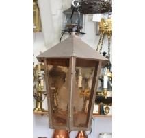 Lanterne hexagonale en cuivre
