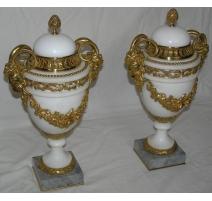 Paire de cassolettes Louis XVI