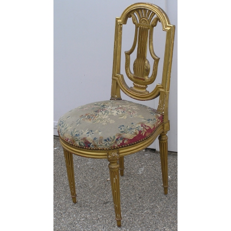 Chaise Lyre Style Louis XVI