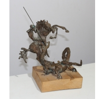 "Bronze ""St-George terrassant le dragon"""