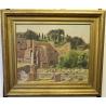 """Tableau """"Ruines à Rome"""" signé M. BLANCHET 49"""