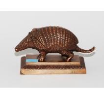 Tatou en bronze formant une boite