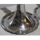 Paire bougeoirs trompette en argent Vieux Lausanne