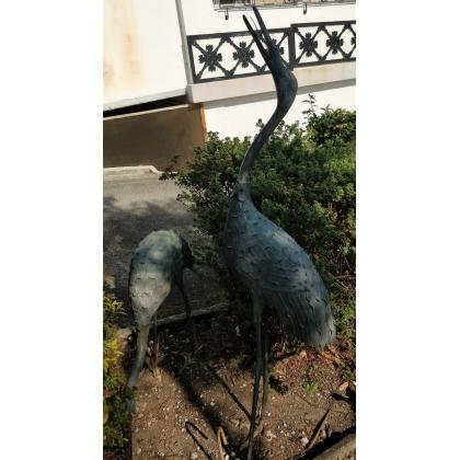 Paire d'Ibis en bronze