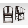 Paire de fauteuils chinois fer à cheval