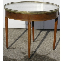 Guéridon - table bouillotte ronde Louis XVI.
