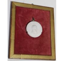 Médaillon en Biscuit De Sèvres Napoléon Ier