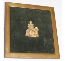 Bronze portrait de pied de Napoléon assis