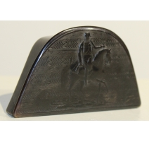 Tabatière chapeau en corne Napoléon à cheval