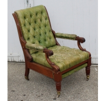 Fauteuil inclinable style Victorien