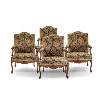 Suite de 4 fauteuils Régence