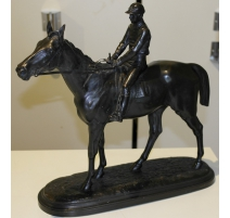 "Bronze ""Race horse and his joc"
