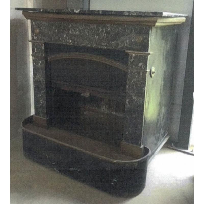 Cheminee Parisienne Marbre Noir Moinat Sa Antiquites Decoration