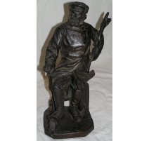 "Bronze ""Railroad worker"" signe"